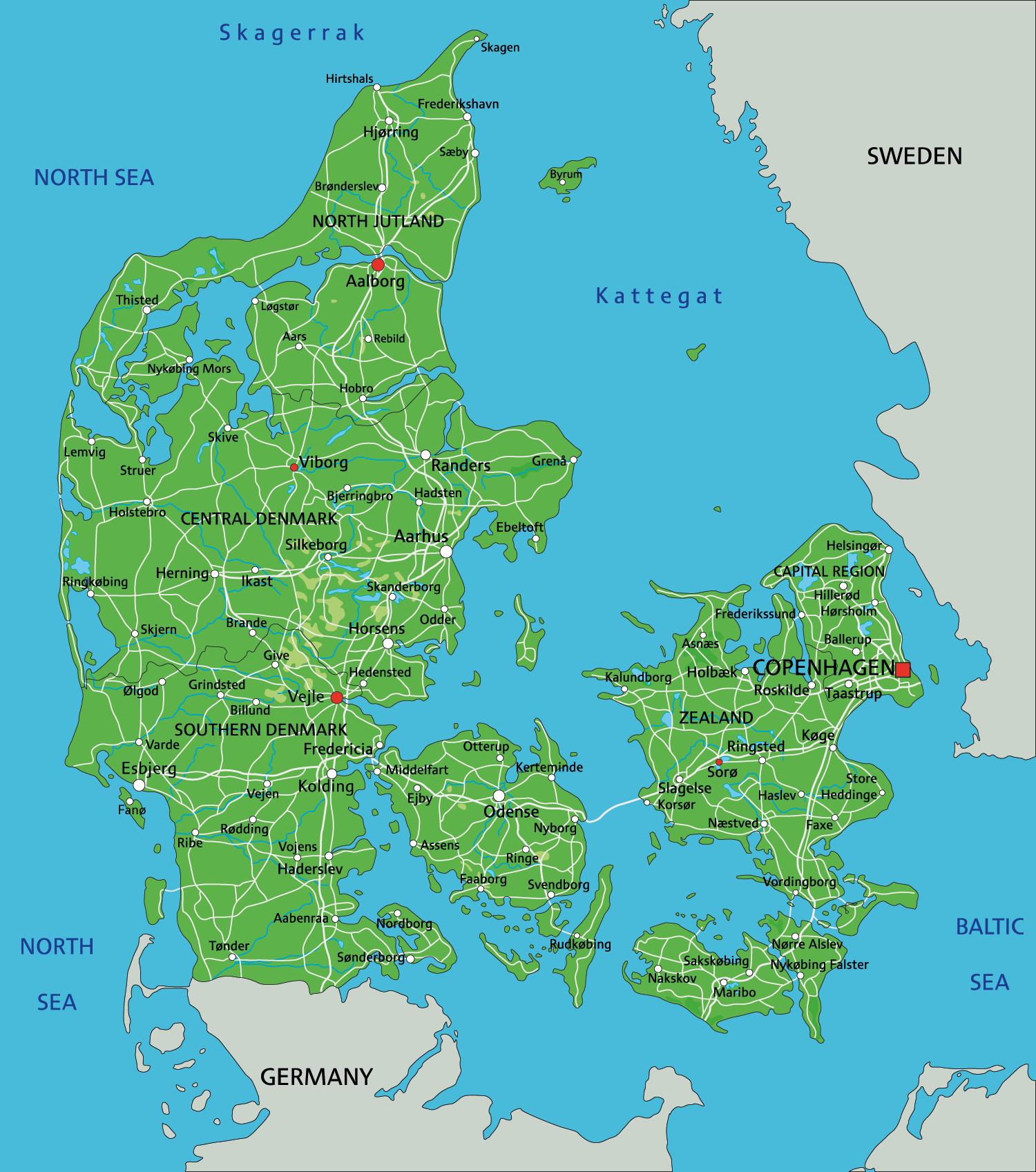karta Danmark